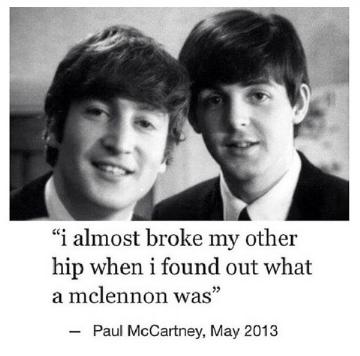 Jokes For Beatlemaniacs Mclennon 4 Beatles Funny Beatles Meme The Beatles