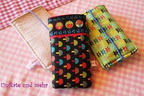 Smartphone Hülle, handytasche bunt mit Pilzen - Taschen und Täschchen von Unikate-und-mehr - Handytasche - Handy, MP3 & Kamera - DaWanda