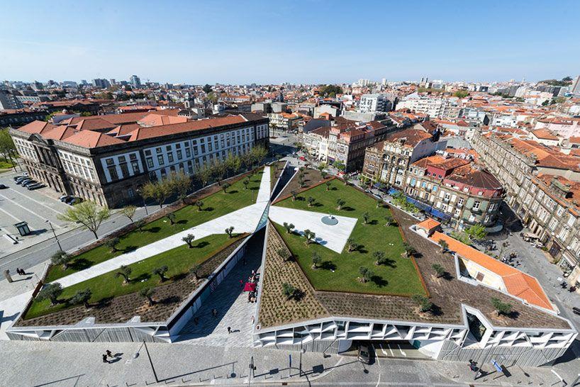 balonas and menano architects design an urban garden / Porto, Portugal