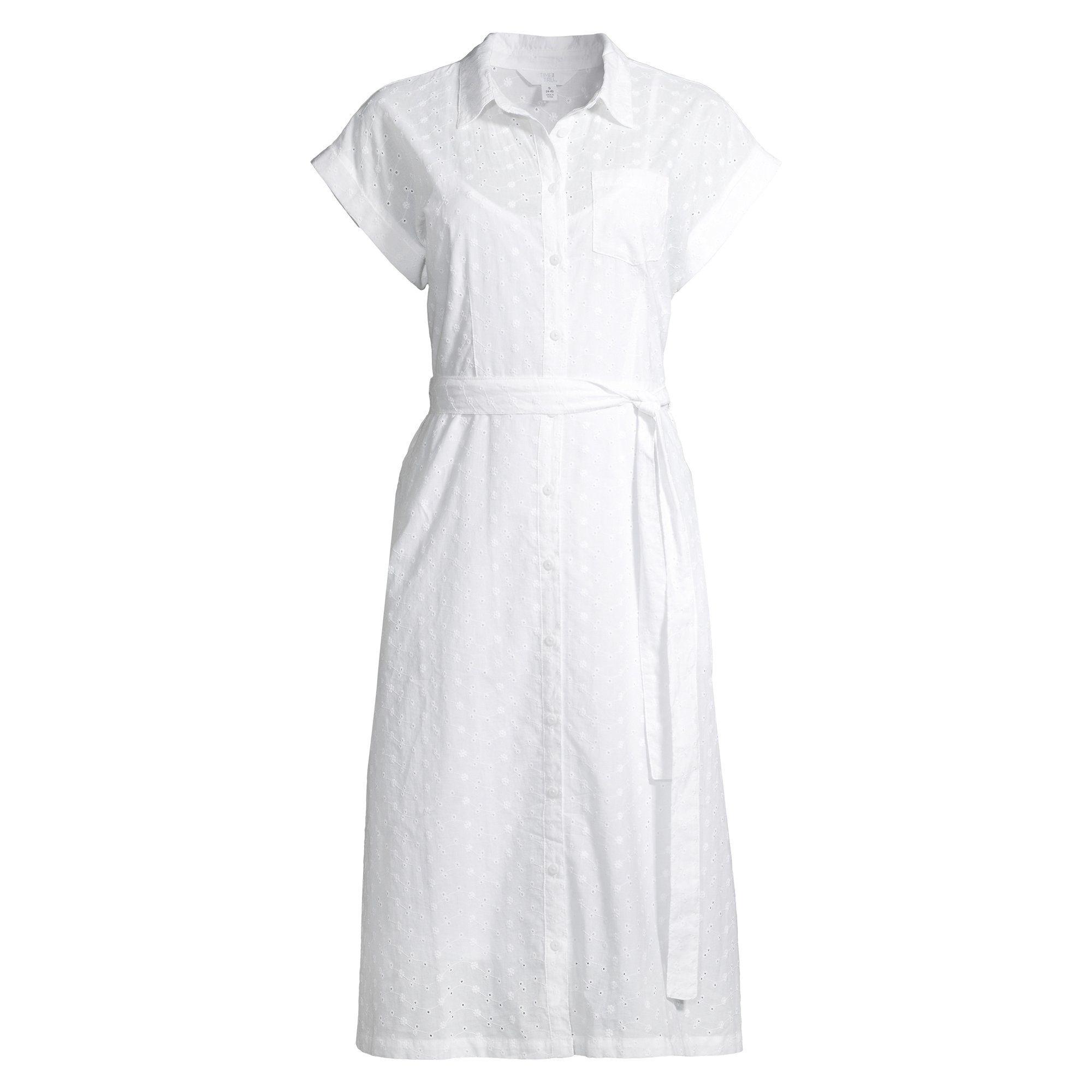 Time And Tru Time And Tru Women S Belted Buttonfront Dress Walmart Com Dresses Versatile Dresses Favorite Dress [ 2000 x 2000 Pixel ]