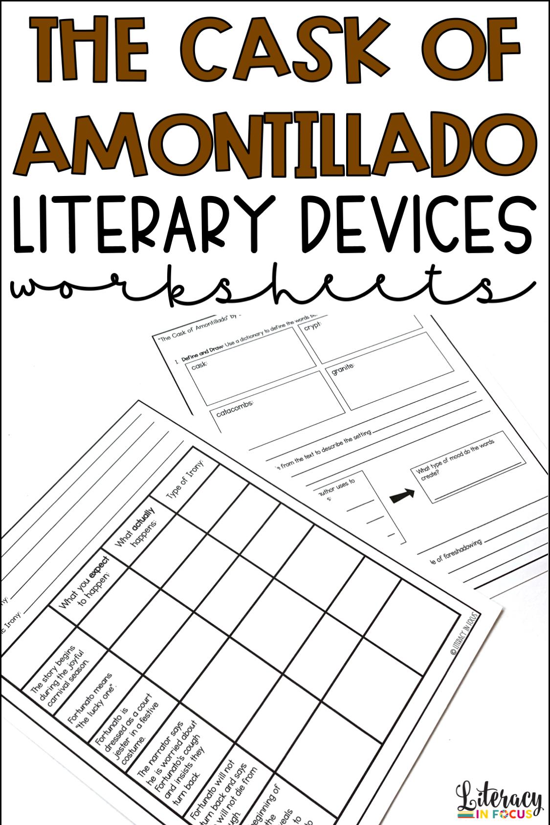 Cask Of Amontillado Activities