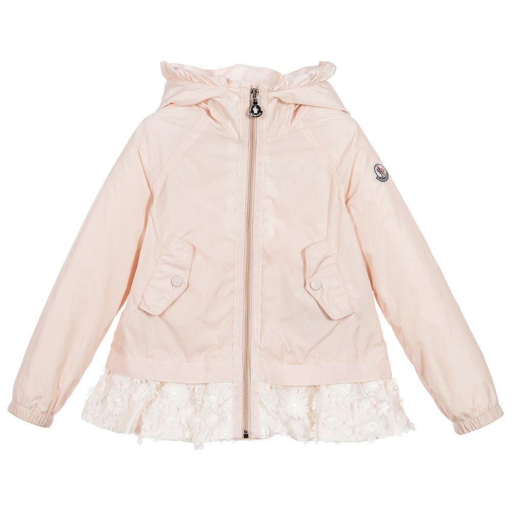 Moncler - Baby Girls Pink Wind Breaker Jacket | Childrensalon ...