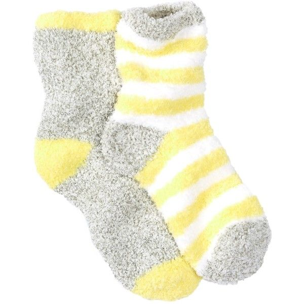 0e431976aa0e9f Nordstrom Rack Butter Fuzzy Socks - Pack of 2 ( 4.78) ❤ liked on Polyvore  featuring intimates