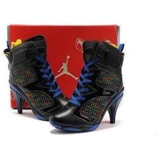 6ef452133778 Air Jordan 6 High Heels in Black Blue