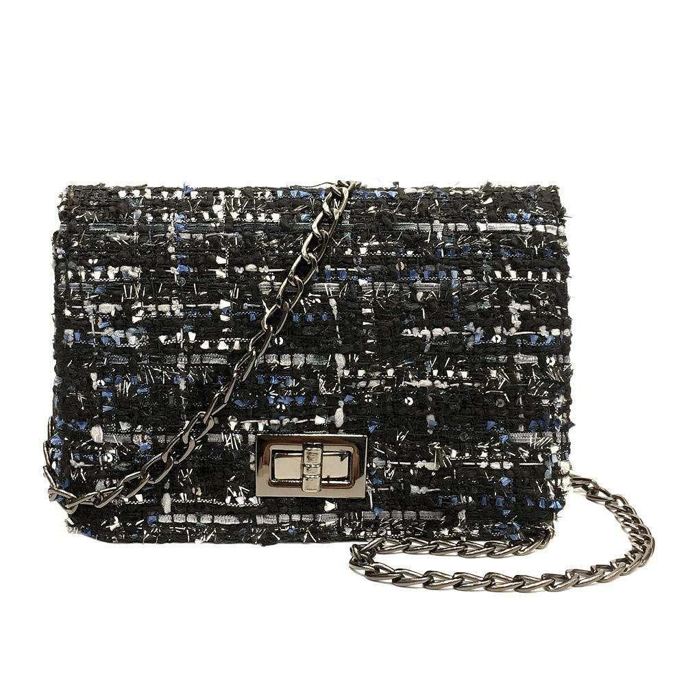 Woolen Crossbody Bags for Women Luxury Handbags Famous Shoulder Bag Sac Main Leather Purses