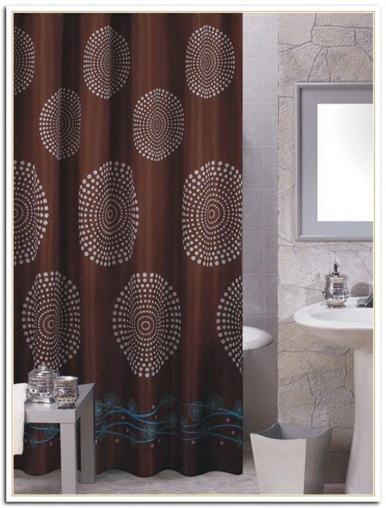 Elegant Dark Brown Shower Curtain