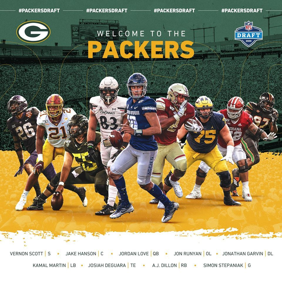 2020 Draft Class In 2020 Packers Green Bay Green Bay Packers