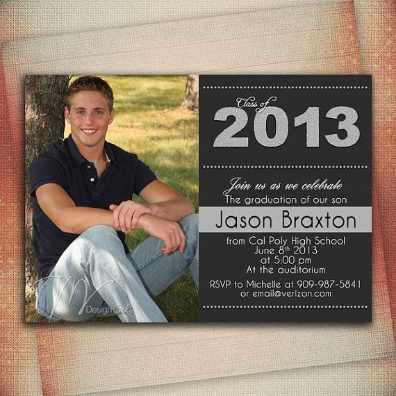 Senior Graduation Invitation Announcement Digital File You Print