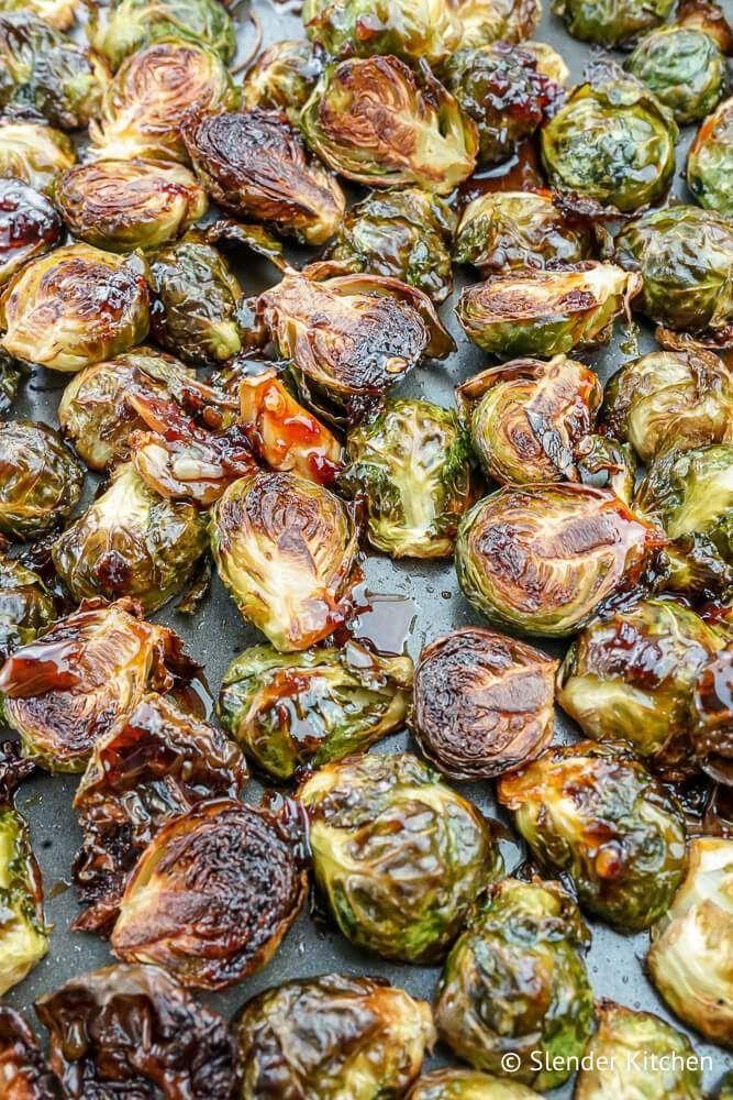 Crispy Asian Brussel Sprouts - Slender Kitchen