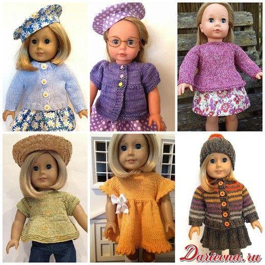 вязаная одежда для кукол спицами бесплатные схемы и описания от
