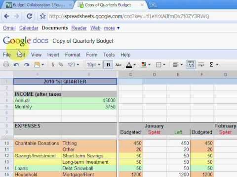Create A Monthly Budget Planner With Google Docs Monthly Budget Planner Budget Planner Budgeting