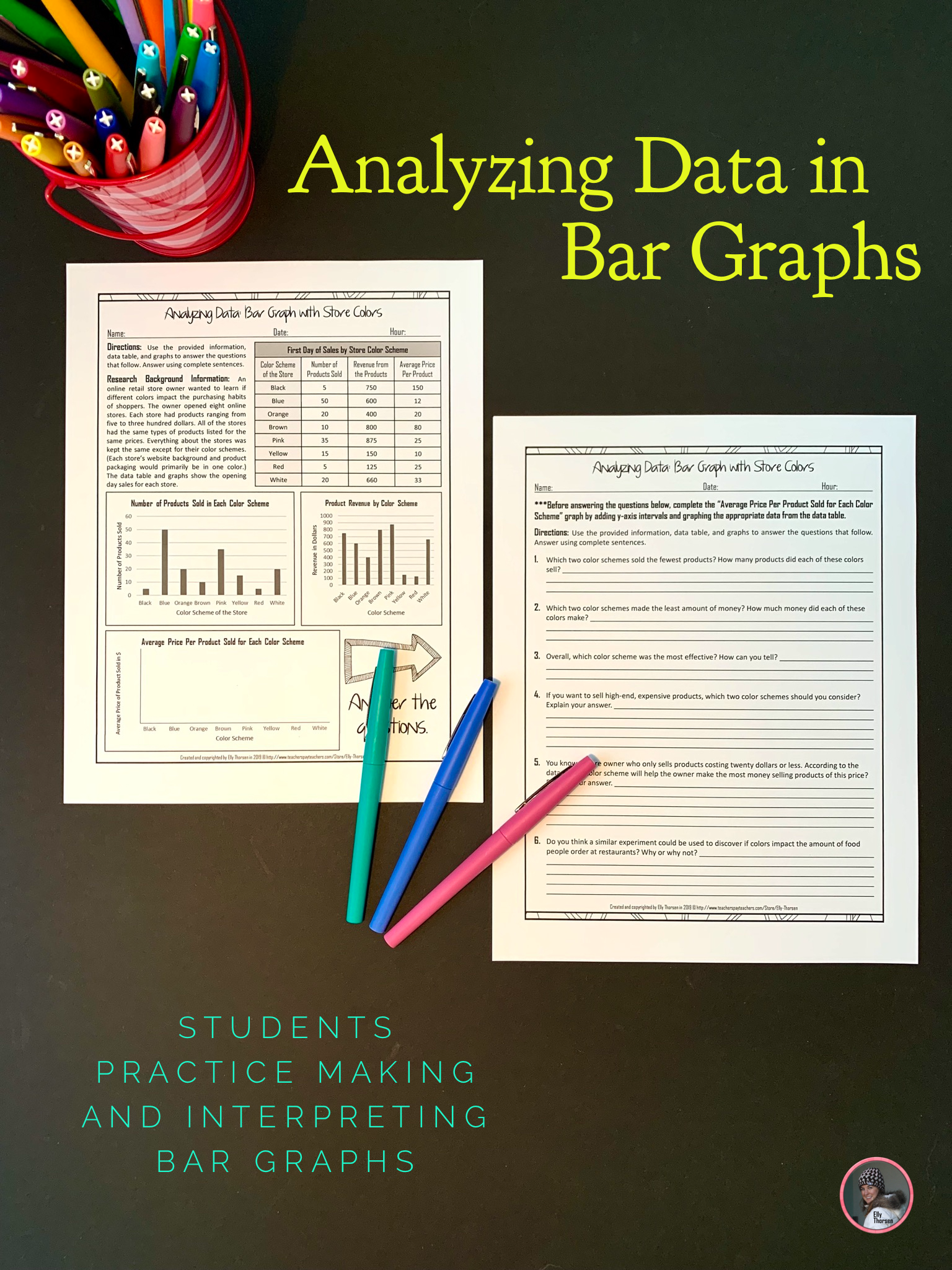 Yzing Data Bar Graphs Worksheet About How Color