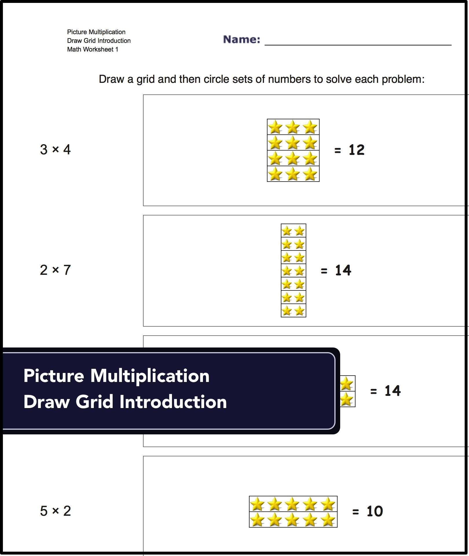 Picture Math Multiplication Worksheets Where The Student