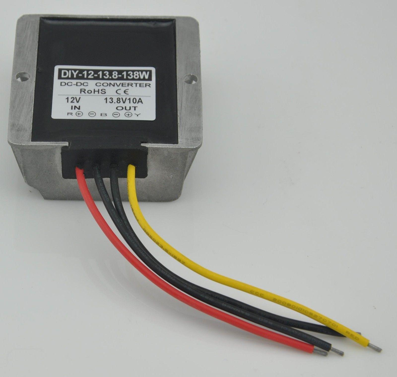 Dc Step Up Converter 12v9v 13v To 138v 10a 138w Waterproof For 5mm Power Solder Plug End Connection Cctv Cable