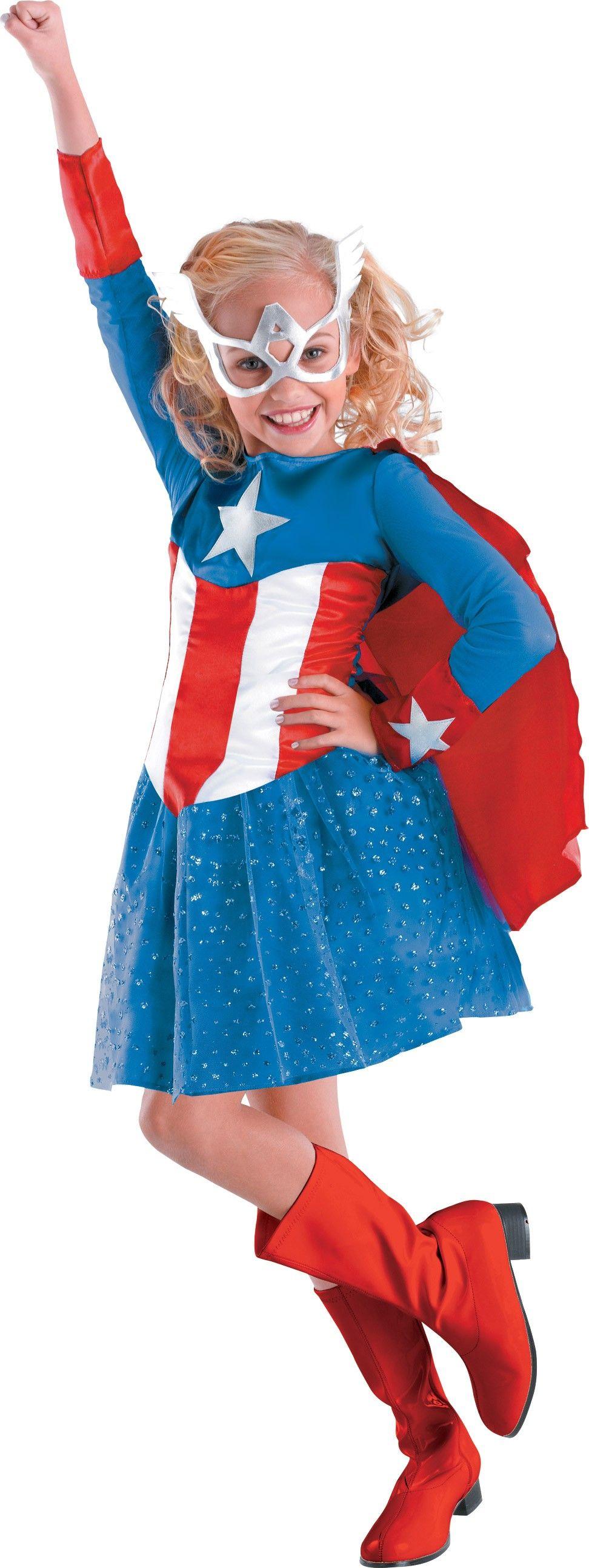 Captain America Girl Classic Toddler / Child Girl's Costume ...
