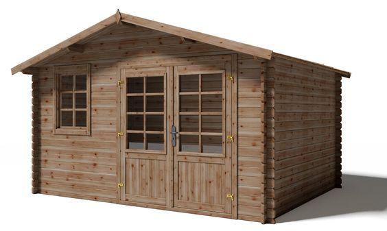 Holz Gartenhaus DONON kesseldruckimprägniert braun B 422 x T 322