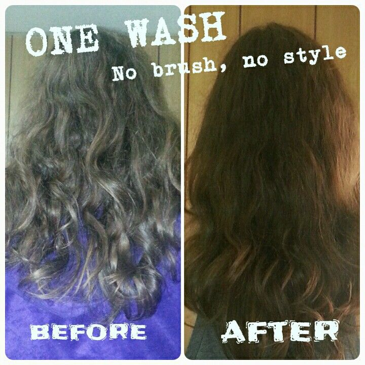 This Is An Air Dry The Before Is My Everyday Dandruff Shampoo The