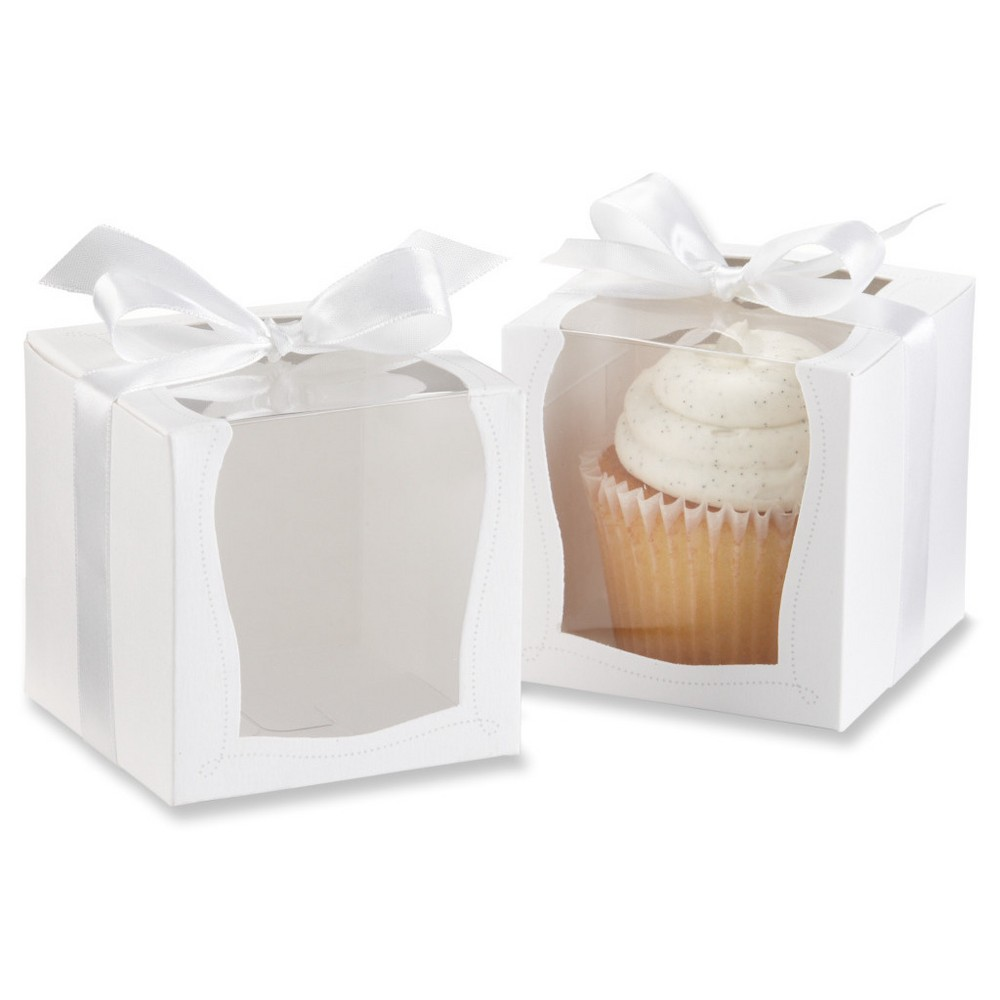 Sweetness & Light Cupcake Boxes (Set of 12), White | Cupcake boxes ...