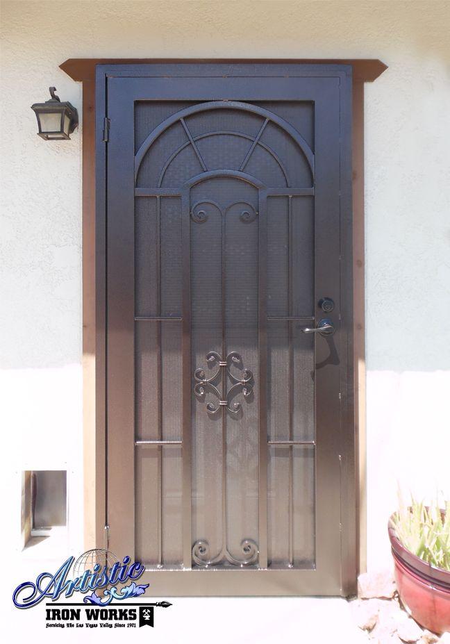 Dixie Wrought Iron Security Screen Door Model Sd0240fr Security Screen Door Wrought Iron Security Doors Security Screen