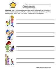 commands worksheet worksheets writing worksheets and writing practice. Black Bedroom Furniture Sets. Home Design Ideas