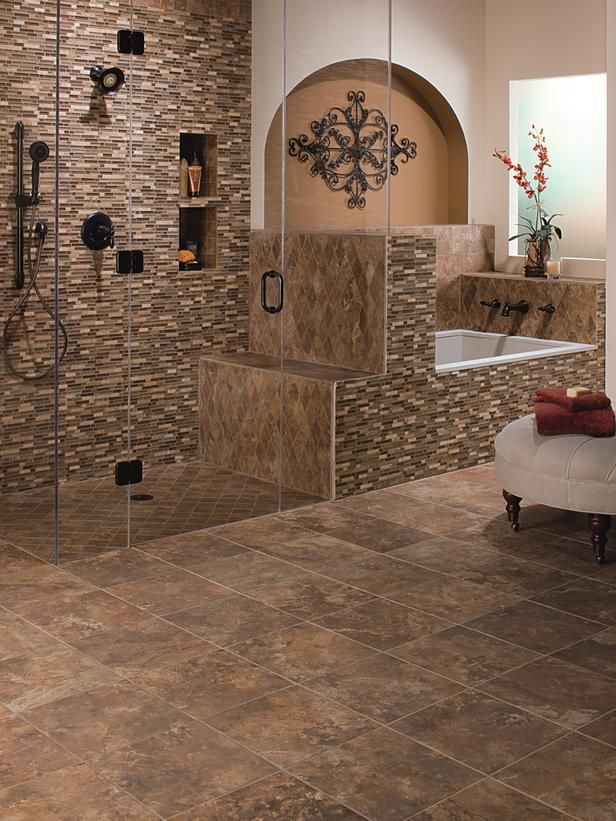 This is quite the amazing color scheme, tile and shower... Want a ...