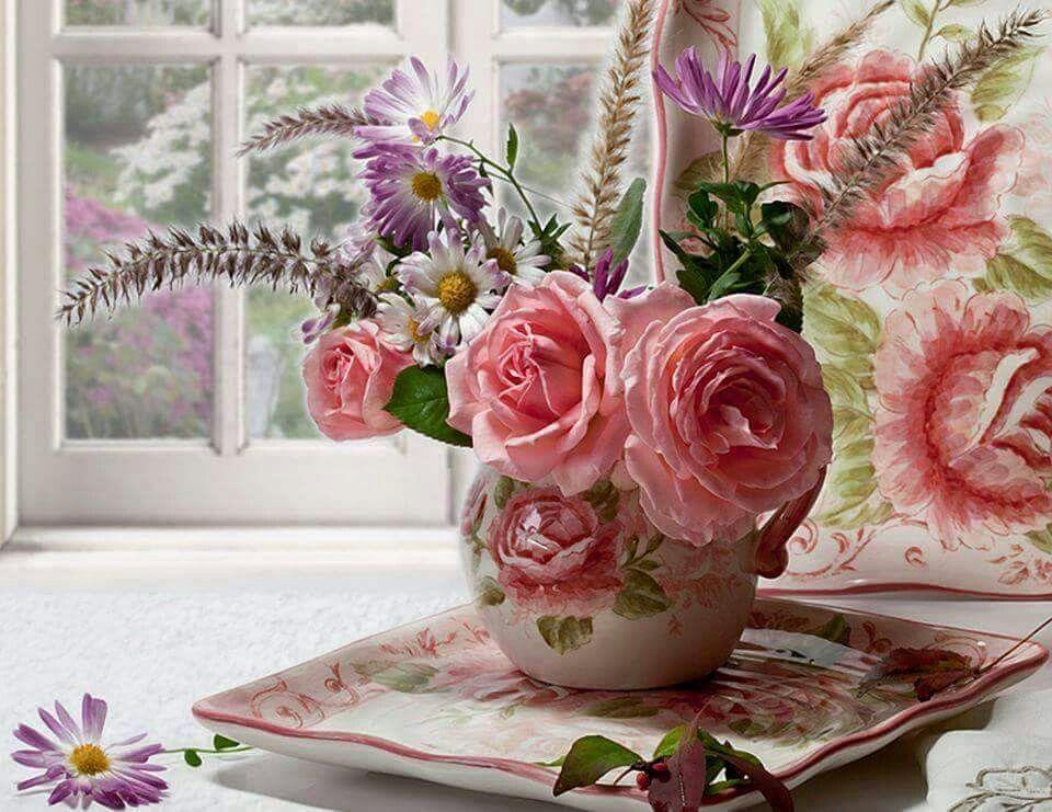 украшения картинка нежные розы с добрым утром того, чтобы