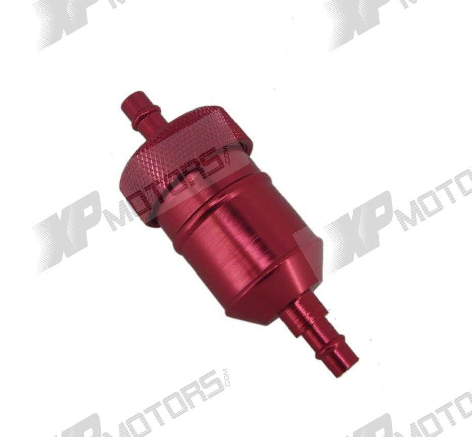 Red Cnc Fuel Filter For Pit Dirt Bike Atv Go Kart Crf Xr Klx Kx Kawasaki Jet Ski