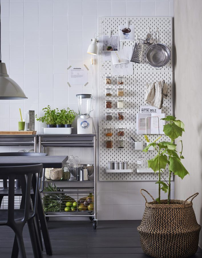 Kitchen Pegboard Ikea
