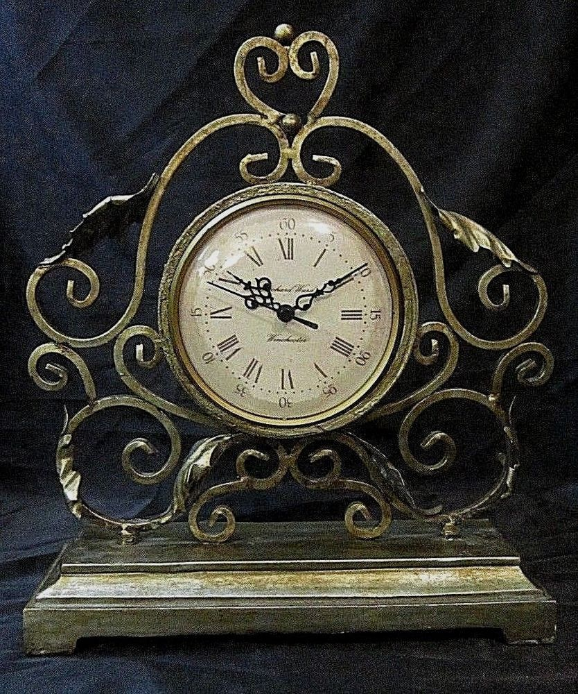 Vintage Winchester Mantel Clock Richard Ward Designer Distressed Wrought Iron Winchesterrichardward 34 99