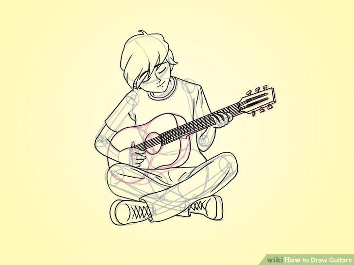 20+ Inspiration Simple Anime Boy Playing Guitar Drawing