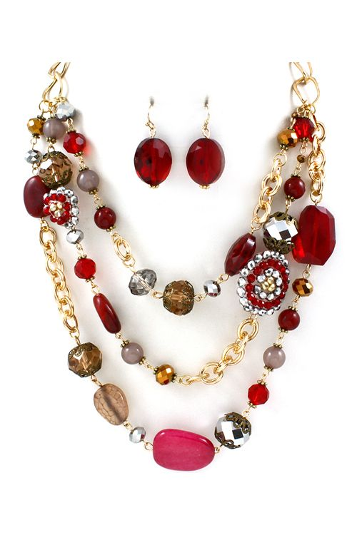Sienna Necklace in Ruby Agate