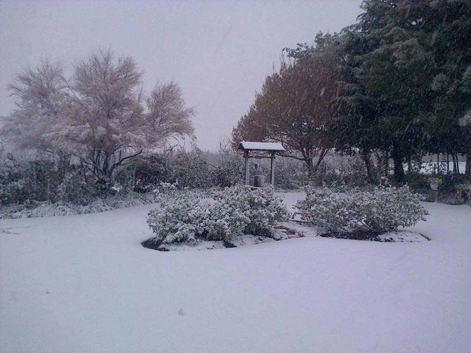 Snow in Ceres - about 1/ 1/2 hours from Cape Town - June 2014 - Climate change is upon us