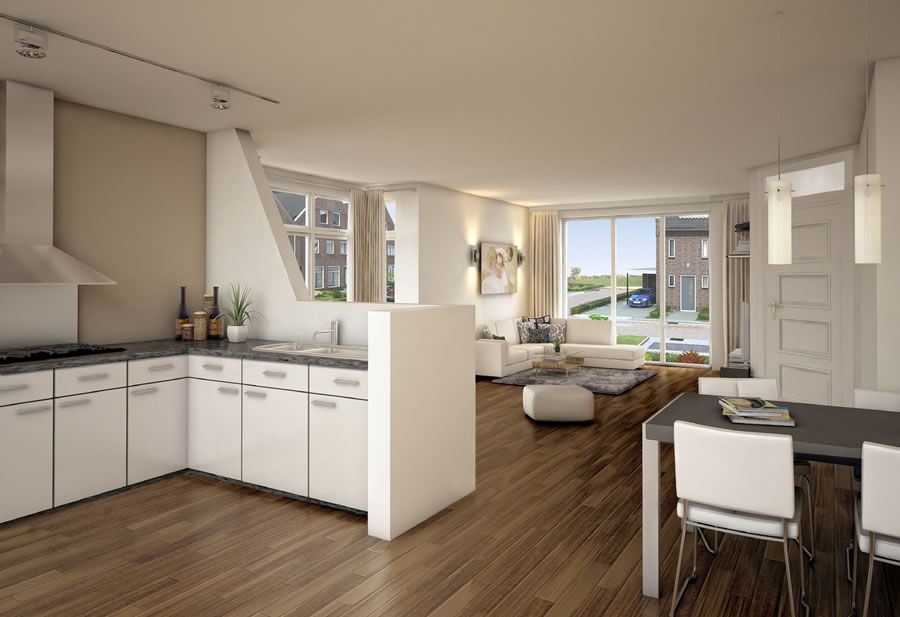 Keuken afscheiding muur huis keuken pinterest image search interiors and kitchens - Keuken open concept ...