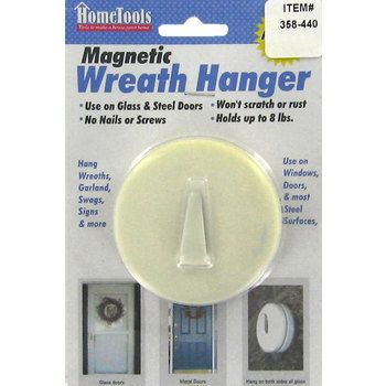 White Magnetic Wreath Hanger Shes Crafty Pinterest Wreath