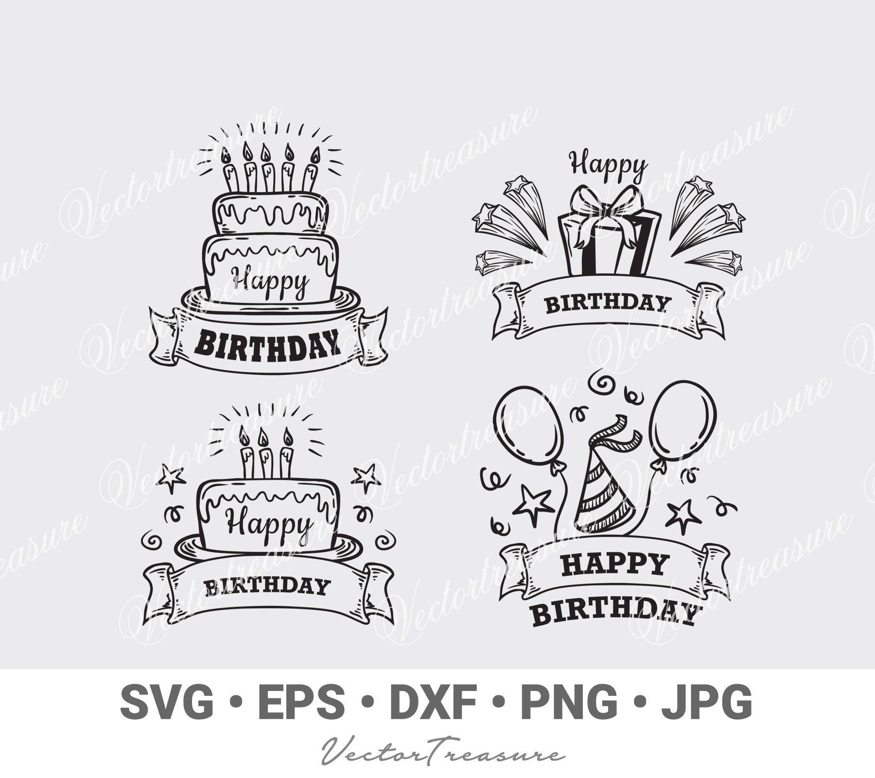 Birthday Quotes Vector Birthday Badges Clipart Birthday Cricut