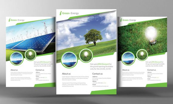 Renewable Energy Go Green Flyer  Flyers    InternetMarketing