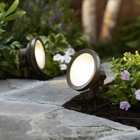 Patio Garden Wall Wash Lighting Better Homes And Gardens Outdoor Trees