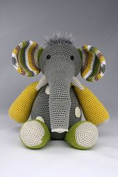 Ravelry: Crochet Elephant pattern by Theresa's Crochet Shop | 255x170