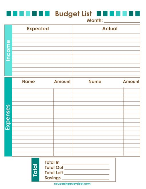 Free Budget Printable For Your Home Binder Pinterest Budgeting