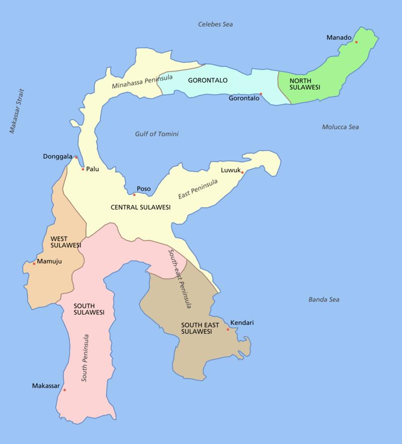 Sulawesi India World Map Sulawesi Maluku Islands