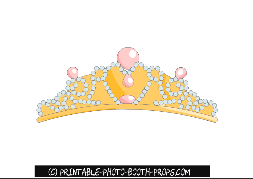 picture about Printable Tiara named Princess Tiara Picture Booth Prop Printable celebration Designs inside of