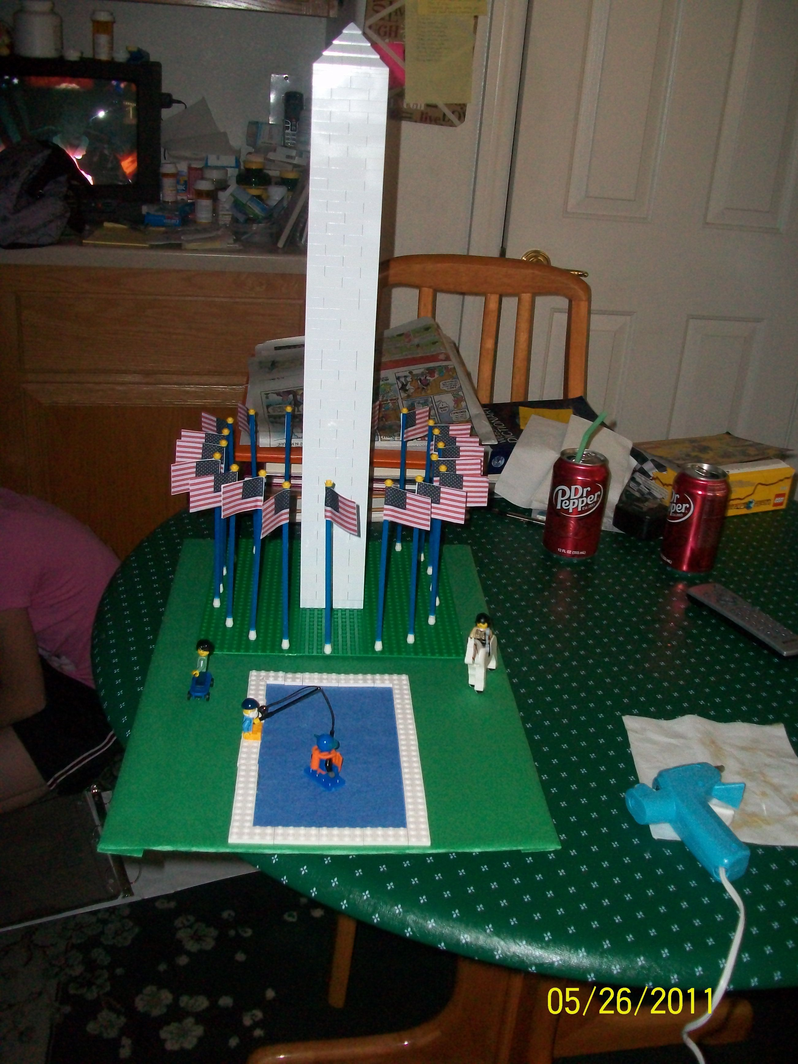 Lego Washington Monument My Daughter Built For A School