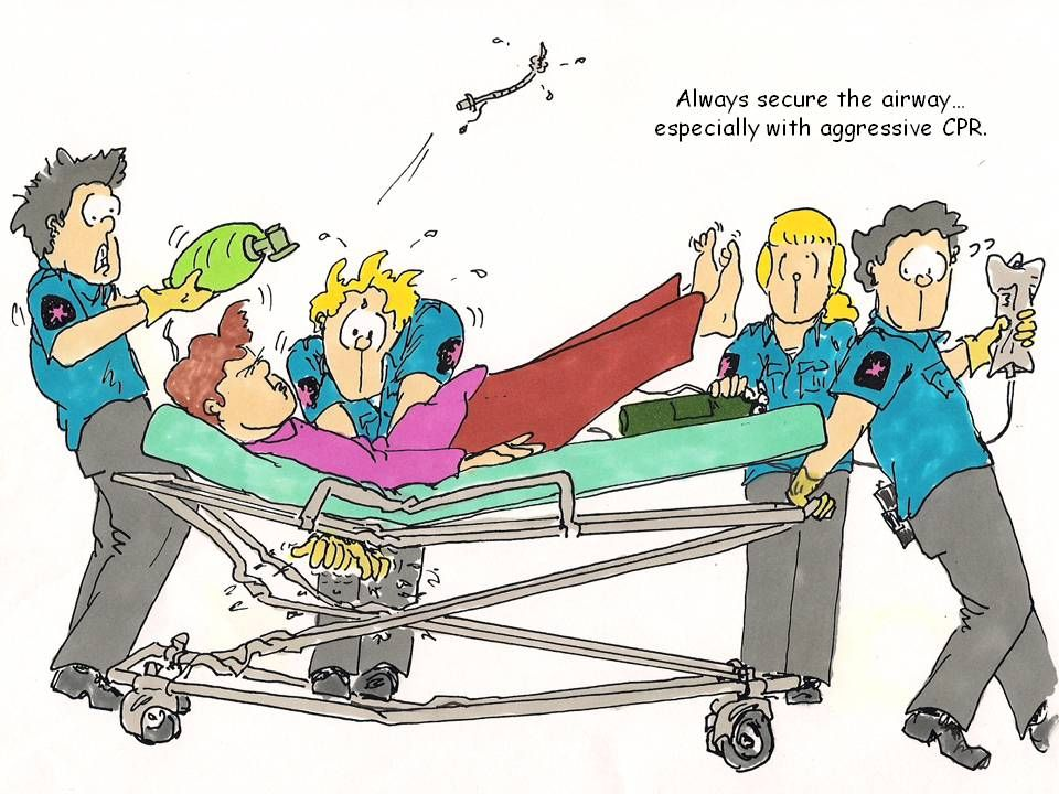 Always secure the airway especially with aggressive
