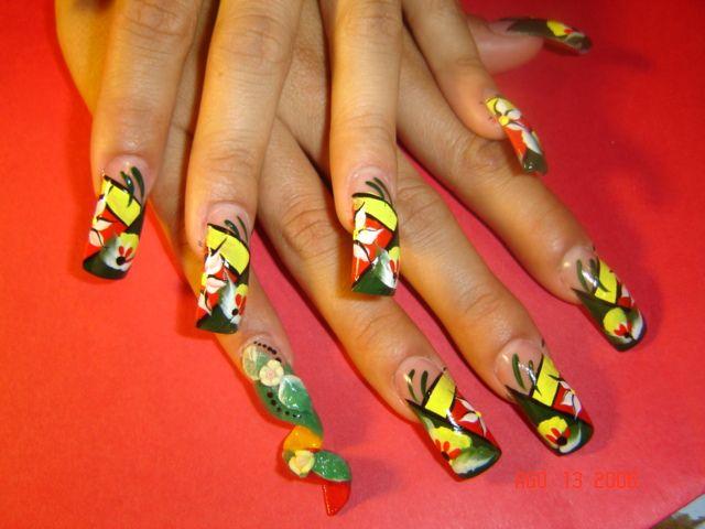 Prettyfulz: Rasta Deco Nail Art - Prettyfulz: Rasta Deco Nail Art.Nail It! Pinterest