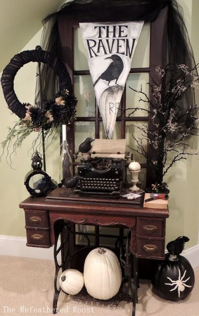 The Raven The Refeathered Roost My halloween !! Pinterest - indoor halloween decoration ideas