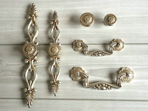 Dresser Knobs Drawer Knobs Pulls Handle Sunflower Antique Silver Rustic  Kitchen Cabinet Handles Knob Pull Vintage