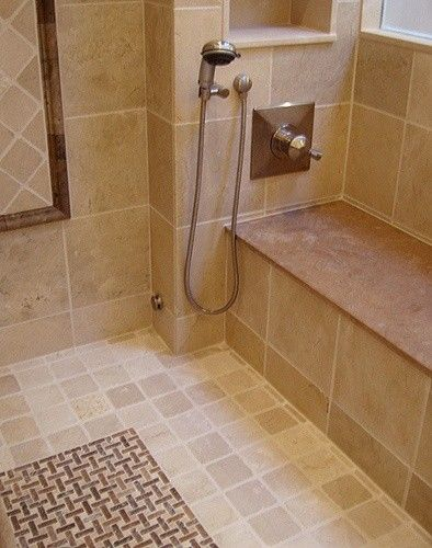 Traditional Bathroom Shower Bench Design, Pictures, Remodel, Decor and Ideas - page 20