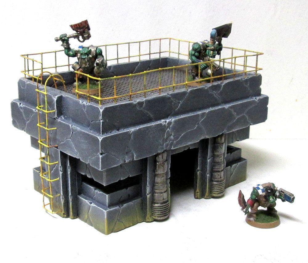 Silo Pack scenery terrain warhammer 40k wargame Infinity wargaming building