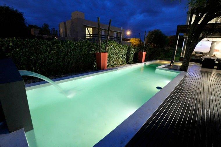 jardín con piscina de diseño moderno | jardines | pinterest