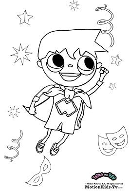 Carnival Coloring Pages With Telmo And Tula Download On Www